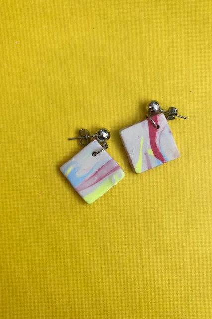 Abstract Studs | Cute Polymer Clay Earrings Studs